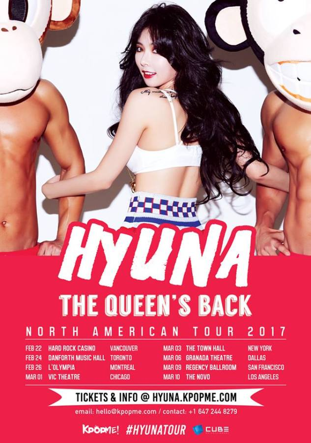 The Queen's Back: HyunA North American Tour 2017